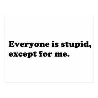 皆は私を除いて愚かです ポストカード
