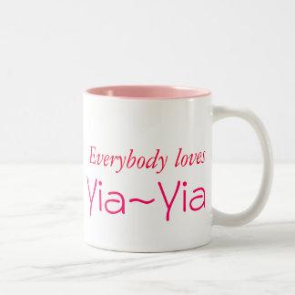 皆は、Yia~Yia愛します ツートーンマグカップ