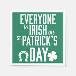 皆はSt patricks dayのナプキンでアイルランド語です スタンダードカクテルナプキン