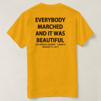 皆はTシャツ行進しました Tシャツ