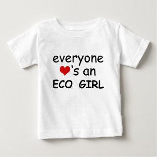 皆ハートエコの女の子 ベビーTシャツ
