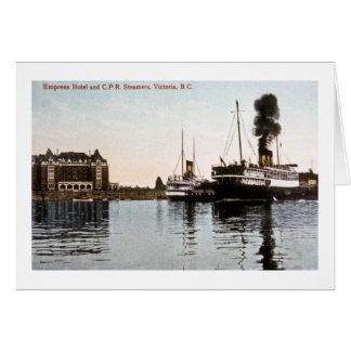 皇后のホテルおよびC.P.R. Steamers、ビクトリア、紀元前に カード