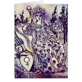 皇后の占いカードの挨拶状 カード