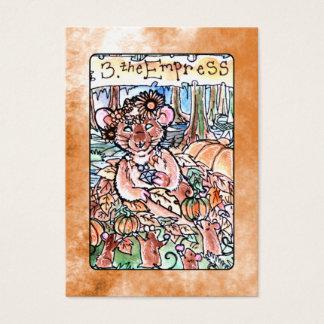 皇后の占いカード 名刺