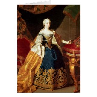 皇后マリアTheresaのポートレート カード