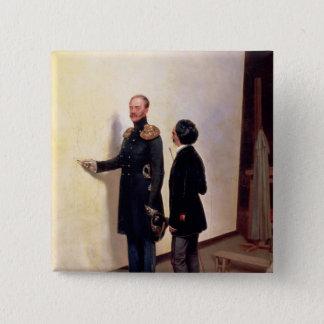 皇帝および芸術家 5.1CM 正方形バッジ