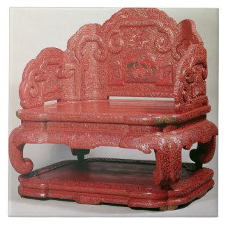 皇帝のCh'ienの肺(1736-95年)の王位 タイル