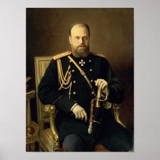 皇帝アレキサンダーのポートレートIII 1886年 ポスター