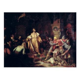 皇帝イヴァンタタールKhanの行為を引き裂くIII ポストカード