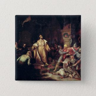 皇帝イヴァンタタールKhanの行為を引き裂くIII 5.1cm 正方形バッジ