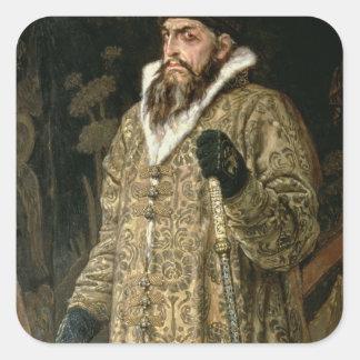 皇帝イヴァンIV Vasilyevich 「ひどい」1897年 スクエアシール