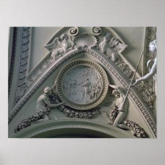 皇帝コンスタンチーヌを描写する円形浮彫り ポスター
