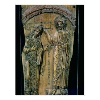 皇帝コンスタンチーヌVIIを戴冠させているキリスト ポストカード