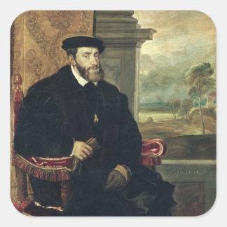 皇帝チャールズのつけられていたポートレートV 1548年 スクエアシール