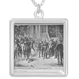 皇帝ナポレオンIIIおよびKaiserウィルヘルムI シルバープレートネックレス
