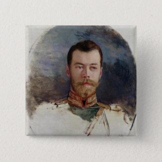 皇帝ニコラスのポートレートのためにII 1898年を調査して下さい 5.1CM 正方形バッジ
