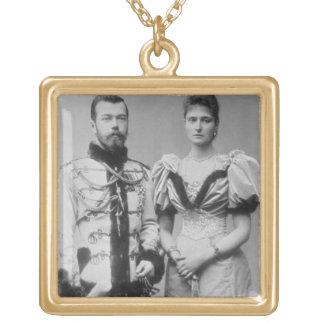皇帝ニコラスのポートレートの写真II (1868-1918年 ゴールドプレートネックレス