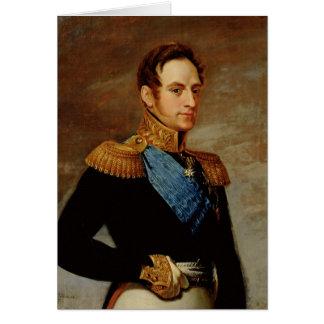 皇帝ニコラスのポートレートI 1826年 カード