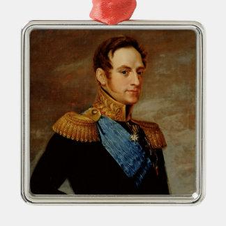 皇帝ニコラスのポートレートI 1826年 メタルオーナメント