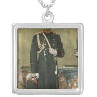 皇帝ニコラスのポートレートII 1895年 シルバープレートネックレス