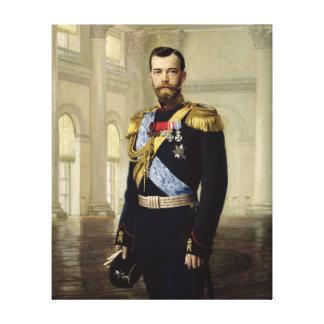 皇帝ニコラスのポートレートII 1900年 キャンバスプリント