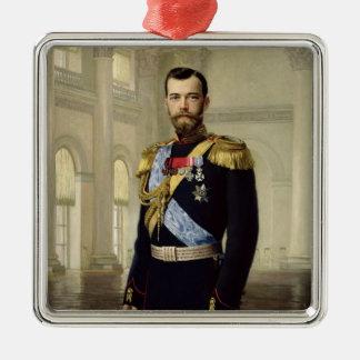 皇帝ニコラスのポートレートII 1900年 メタルオーナメント