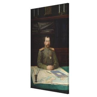 皇帝ニコラスのポートレートII 1914年 キャンバスプリント