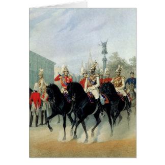 皇帝ニコラスIおよび帝政ロシアの皇子アレキサンダー カード