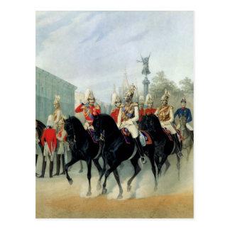 皇帝ニコラスIおよび帝政ロシアの皇子アレキサンダー ポストカード