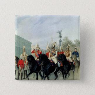 皇帝ニコラスIおよび帝政ロシアの皇子アレキサンダー 5.1CM 正方形バッジ