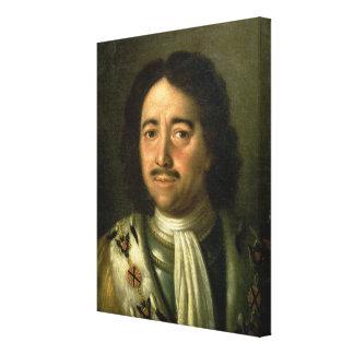 皇帝ピーターのポートレートI素晴らしい1772年 キャンバスプリント