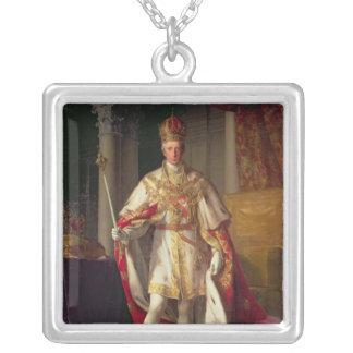 皇帝フランツオーストリアのII シルバープレートネックレス