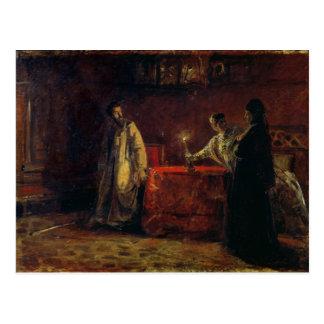 皇帝ボリスGodunovおよびTsarinaマーサ1874年 ポストカード