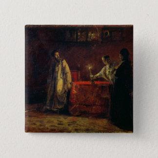 皇帝ボリスGodunovおよびTsarinaマーサ1874年 5.1cm 正方形バッジ