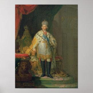 皇帝ポールのポートレートI 1800年 ポスター