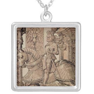 皇帝マクシミリアン馬1518年に乗るI シルバープレートネックレス