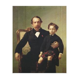 皇帝ルイナポレオンBonaparteおよび彼の息子 キャンバスプリント