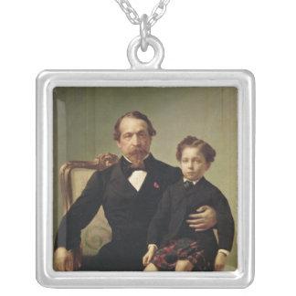 皇帝ルイナポレオンBonaparteおよび彼の息子 シルバープレートネックレス