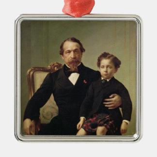 皇帝ルイナポレオンBonaparteおよび彼の息子 メタルオーナメント