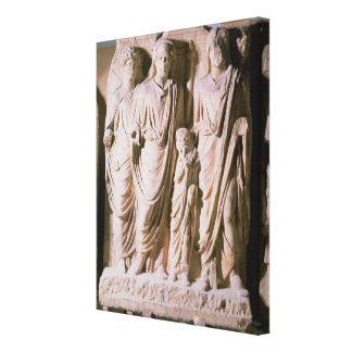 皇帝Hadrianを示すフリーズの詳細 キャンバスプリント