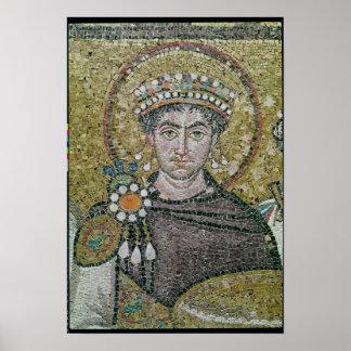 皇帝Justinian I c.547の広告 ポスター