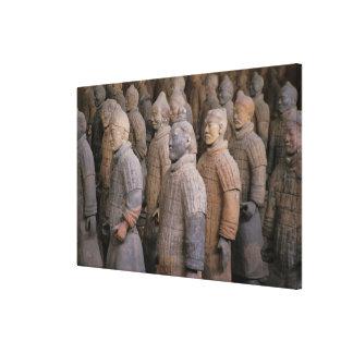皇帝Qin Shihuangのテラコッタ戦士 キャンバスプリント