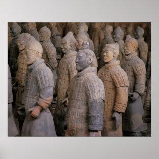 皇帝Qin Shihuangのテラコッタ戦士 ポスター