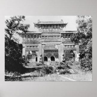 皇帝Qing Taizongの墓 ポスター