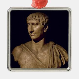 皇帝Trajanのポートレートのバスト メタルオーナメント