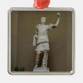 皇帝Trajan (53-117広告)の彫像(大理石) メタルオーナメント