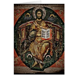皇族アイコン1780年のキリスト カード