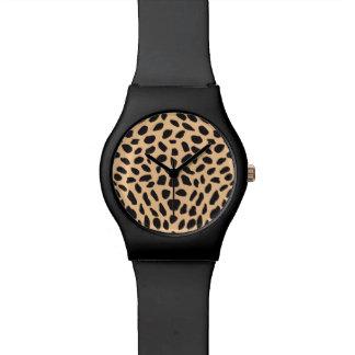 皮のチータの装飾 腕時計