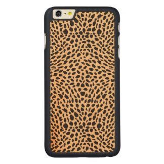 皮のチータの装飾 CarvedメープルiPhone 6 PLUS スリムケース