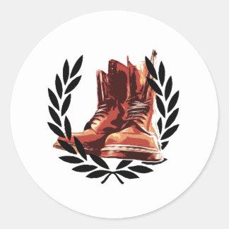 皮のブーツ ラウンドシール